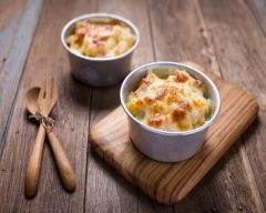 Gratin de topinambours au jambon et parmesan