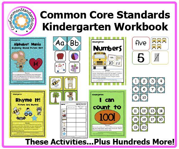 Kindergarten Common Core Workbook Download | Common Core Standards | Common Core Activities, Worksheets, and Workbooks.