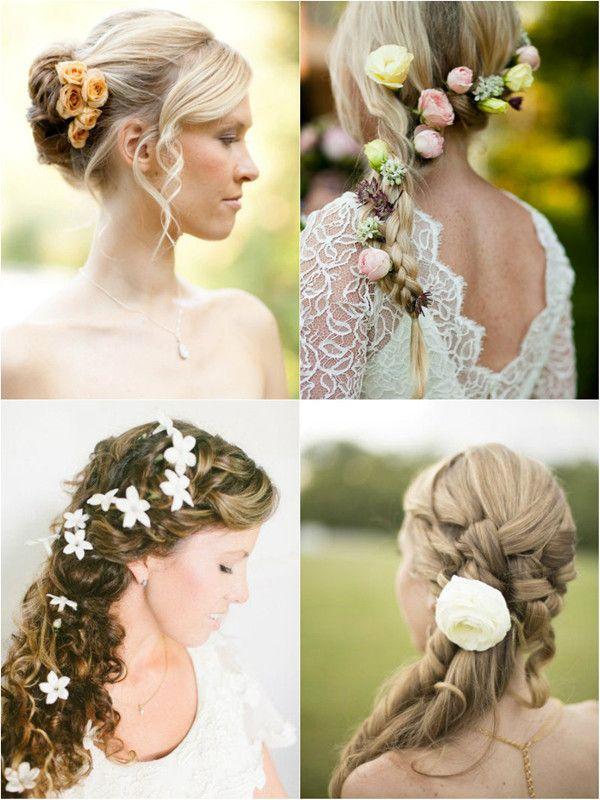 wedding flower hair style