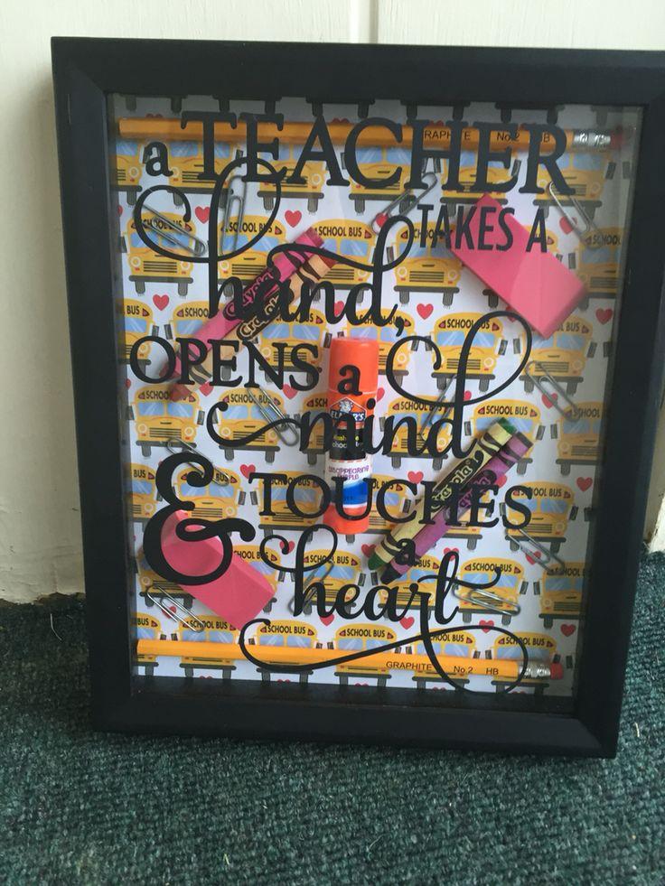Teacher Shadow Box Silhouette And Cricut Creations