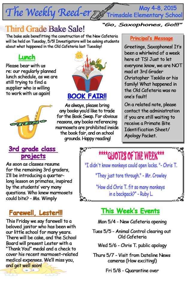 The 25+ best School newsletters ideas on Pinterest Parent - school newsletter