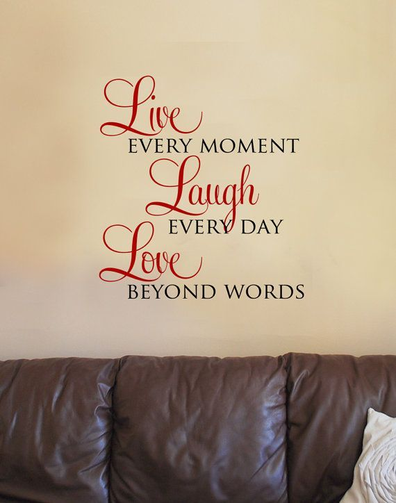 Live Laugh Love Wall Art | Live Laugh Love Vinyl Wall Art Decal | For the Home