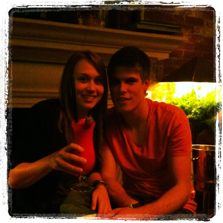 Baby brother and the GF - Lighthouse Bar, Oyster Box, Durban
