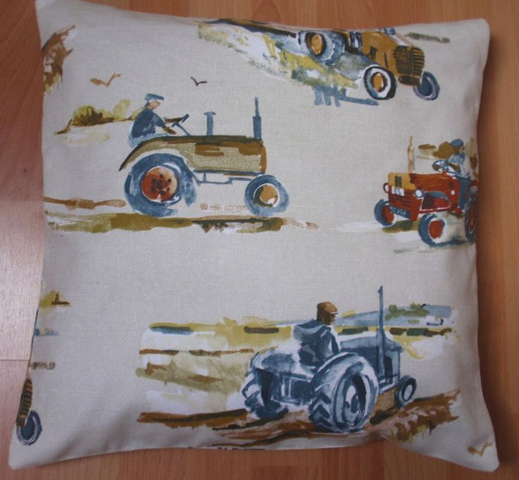 BN - TRACTORS AND FARM MACHINERY CUSHION COVER- LOVELY in Collectables, Transportation, Agricultural/ Industrial | eBay