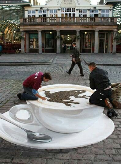 Awesome coffee street art