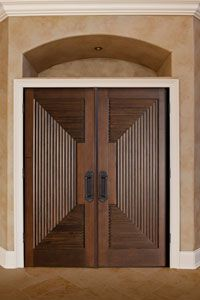 Interior Custom Mahogany Door - Double - Solid Wood Mahogany - Classic Collection