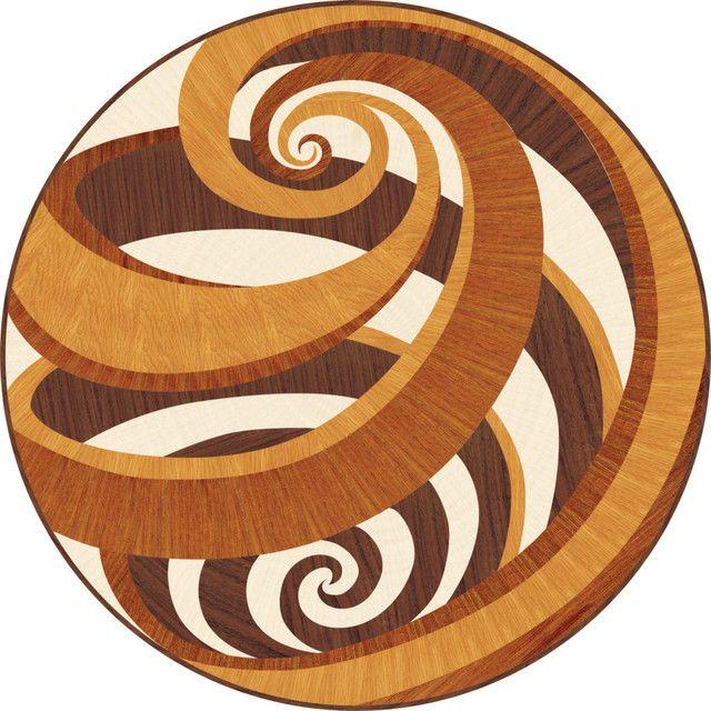 Vortex hardwood medallion  wood flooring inlay