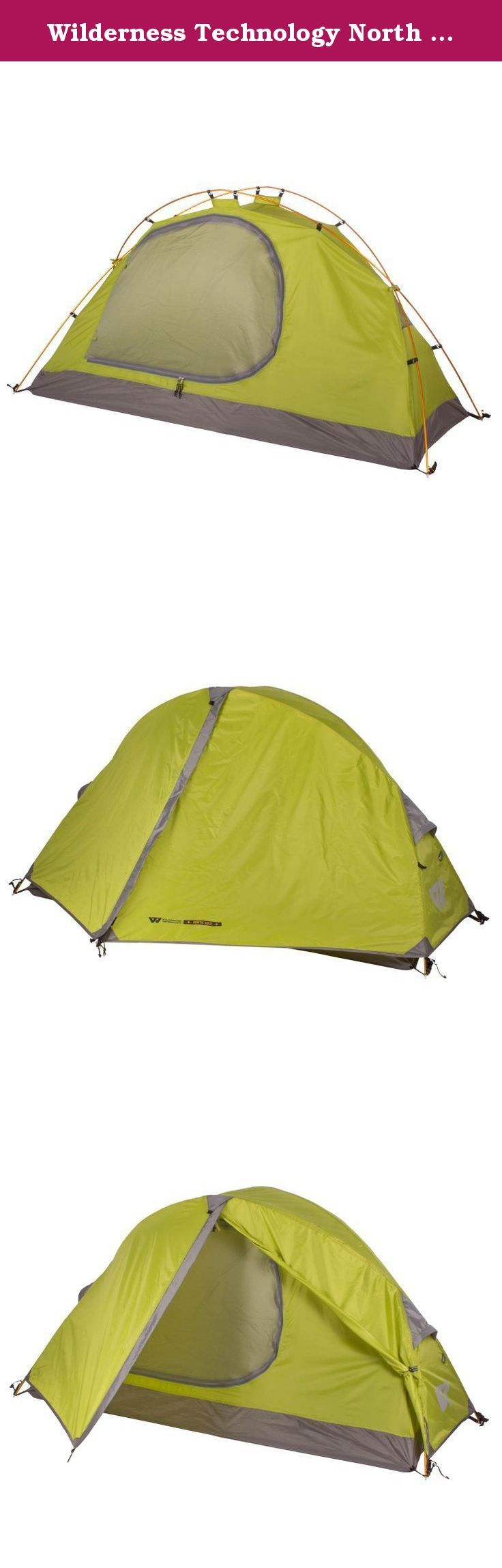 Wilderness Technology North Solo Tent - 1 Person. No mater what direction you are headed on your next adventure, the Wilderness Technology North Solo will be there to keep you protected from the elements. This one person tent features a large entry with vestibule, lightweight aluminum poles, and a full rain fly for rainy days. The tent floor and rain fly are treated with a polyurethane waterproof coating to keep out the morning dew. Perfect for solo backpacking or motorcycle camping.