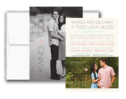 Option 1 Includes Full Color Invitations, Custom Design, And Envelopes.  Order Today!
