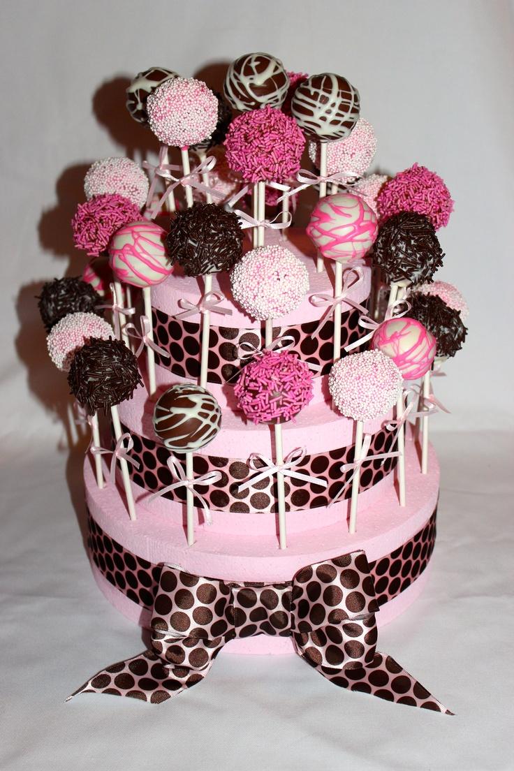 Cake Pop Centerpieces For Baptism : Best 25+ Baptism cake pops ideas on Pinterest Pink cake ...