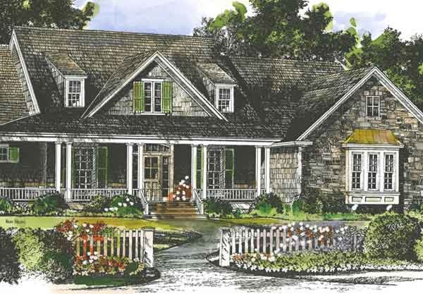 New brookhaven southern living house plans front for House plans with dormers and front porch