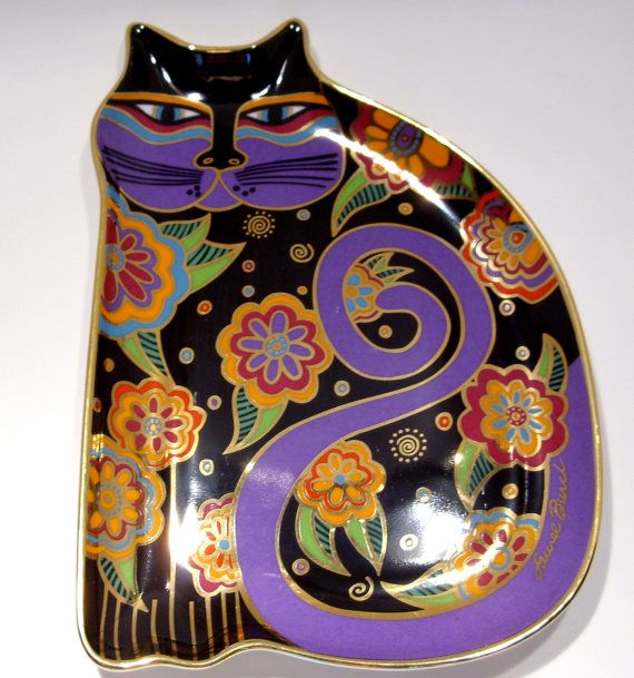 Laurel Burch Feline Fantasy Plate by Royal by HometownVintage