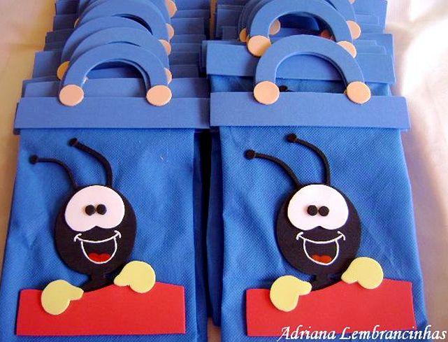 sacolinhas de tnt para aniversário   Dicas e Truques para Crianças