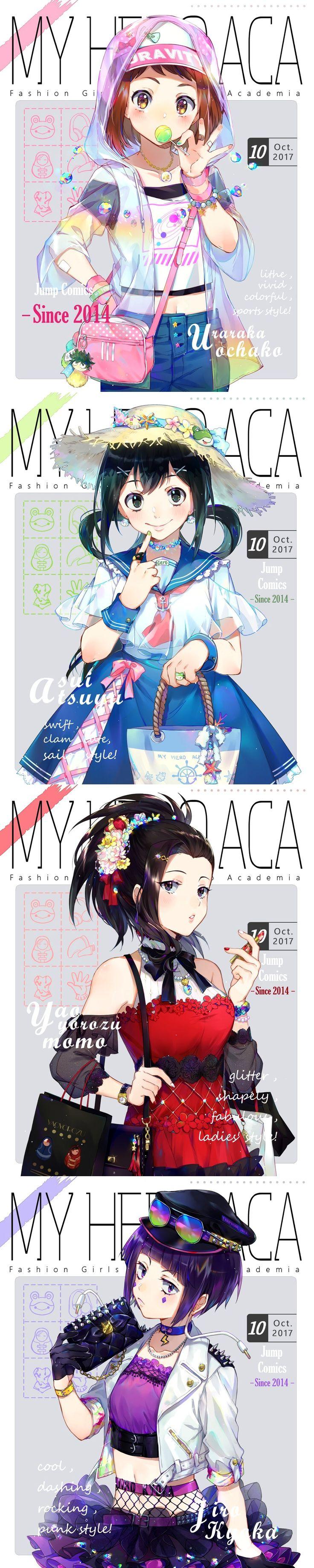 Boku no Hero Academia || Uraraka Ochako || Asui Tsuyu || Momo Yaoyorozu || Kyoka Jiro