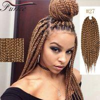 Box Braids Crochet Hair Blonde Hair Extensions 2X Box Crochet Hair Extension Curly Dreadlock Braids Ombre Kanekalon Jumbo Braid