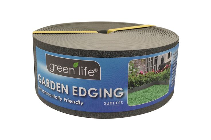 Plastic Garden Edging - Slate Grey.   Available in 10m x 75mm, 6m x 150mm and 10m x 150mm