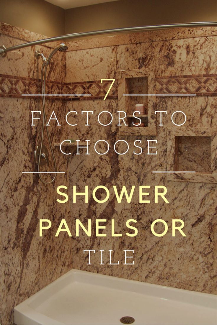 Learn 7 factors to determine if grout free shower wall panels or a ceramic tile shower is best for your project - http://blog.innovatebuildingsolutions.com/2015/10/16/shower-wall-panels-cheaper-tile-7-factors-consider/