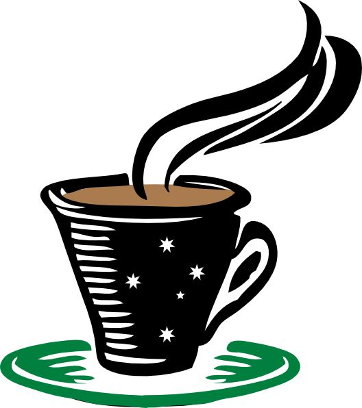 Steaming Coffee Cup Clip Art