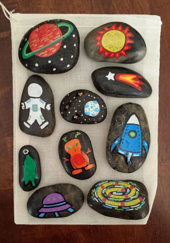 Space Adventures Story Stones by EndearinglyWhimsical on Etsy