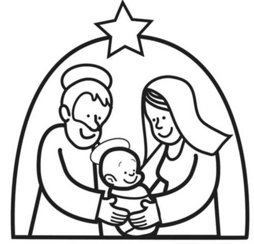 kostenlose malvorlage weihnachten maria und josef mit dem