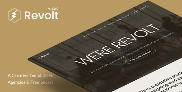 Revolt - Creative Portfolio Template for Agencies