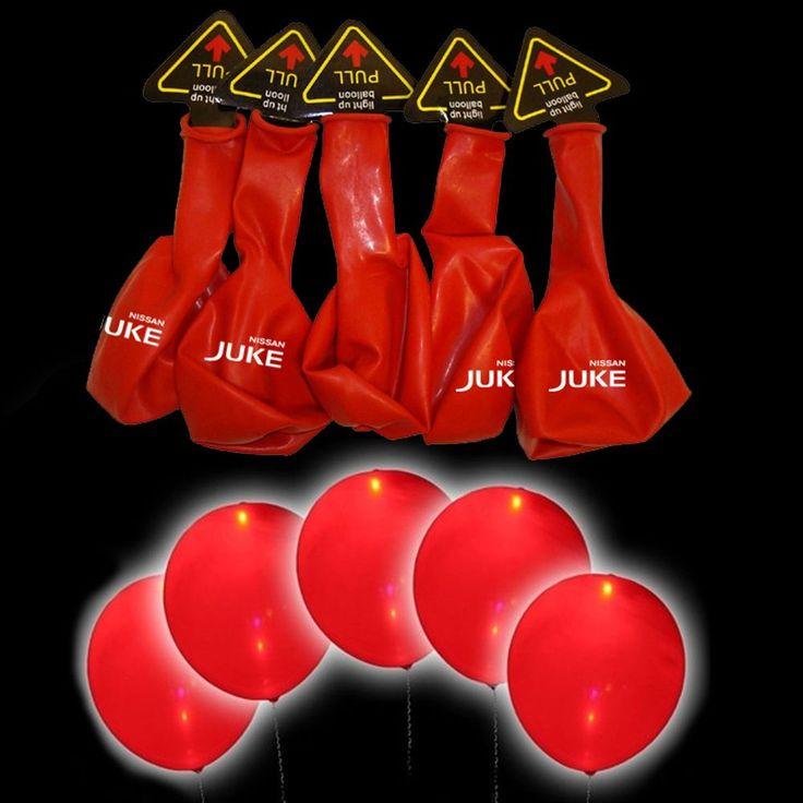 € 4,99 5 palloncini a led luminosi rossi Nissan juke fluorescenti 15 ore party kit set  Vedi altro su: http://stores.ebay.it/BEERBAZAR