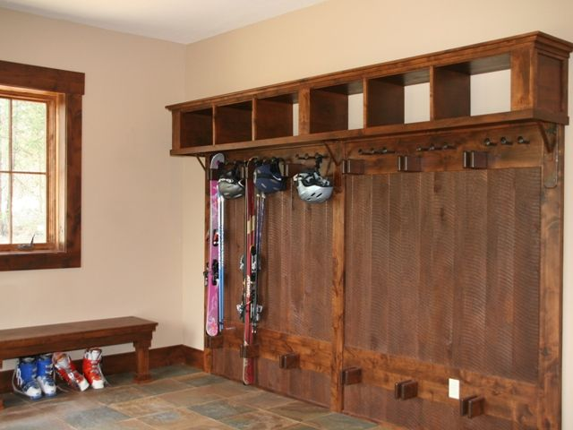 Mudroom Ski Rack