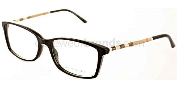 aa6a13d6d09e Burberry BE 2120 Burberry BE2120 3001 Black Burberry Glasses