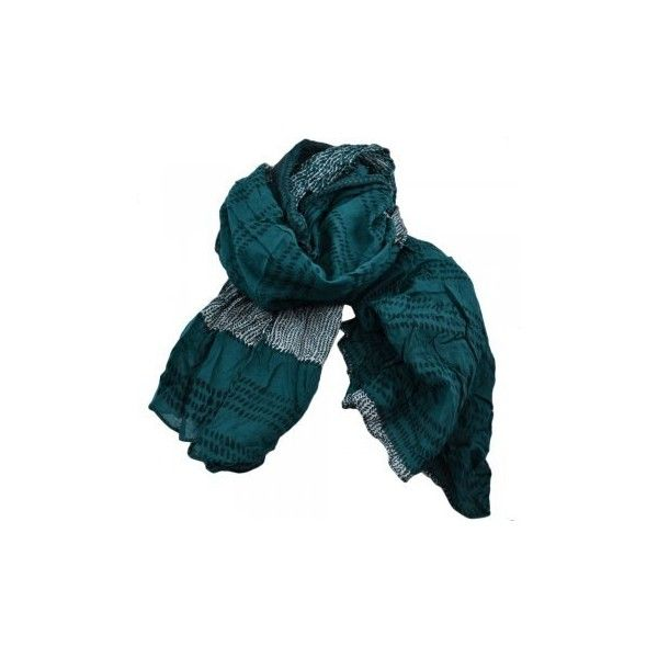 Teal Green, Navy Blue White Patterned Scarf (16 BRL) ❤ liked on Polyvore featuring accessories, scarves, navy shawl, navy blue scarves, lightweight shawl, blue and white scarves and navy scarves