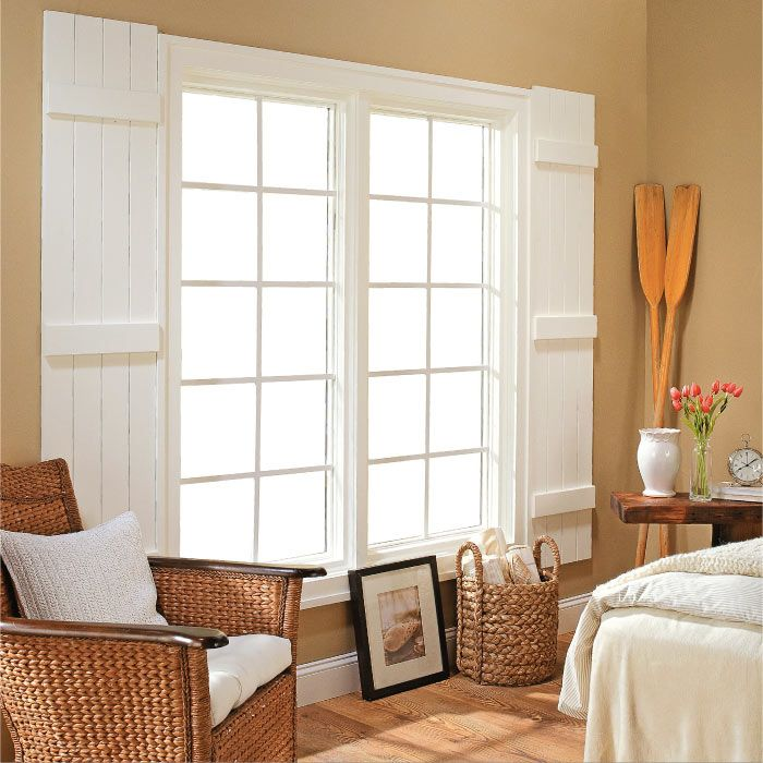 DIY Cottage-Style Indoor Shutters | My Home My Style eNotes: Cottages Styles, Dining Rooms, Cottages Bedrooms, Barns Doors, Indoor Shutters, Guest Rooms, Windows Treatments, Diy'S Indoor Windows Shutters, Batten Shutters