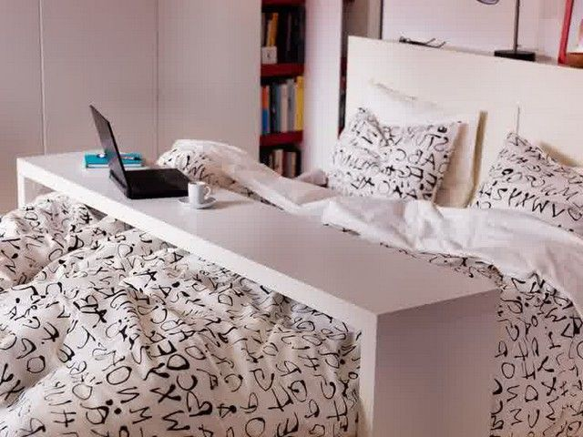 Ikea Malm Over The Bed Table Overbed Table Small