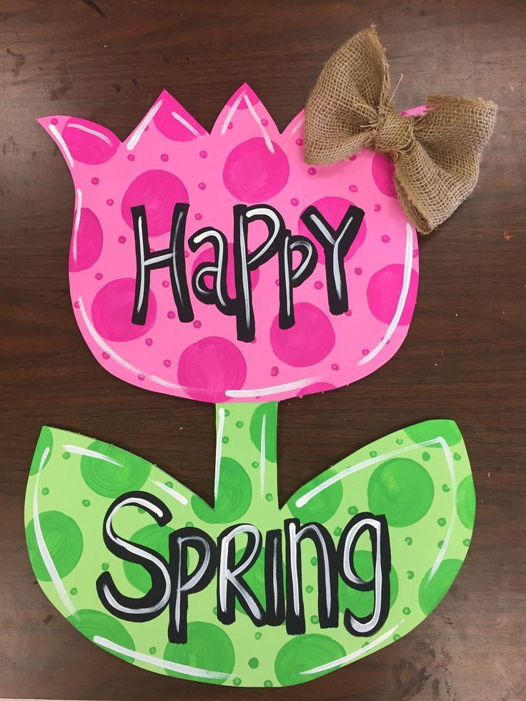118 Best Flower Door Hangers Images On Pinterest