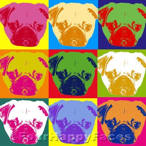 Instant Download Pugs Pugs Pugs Pop Art Print  Digital
