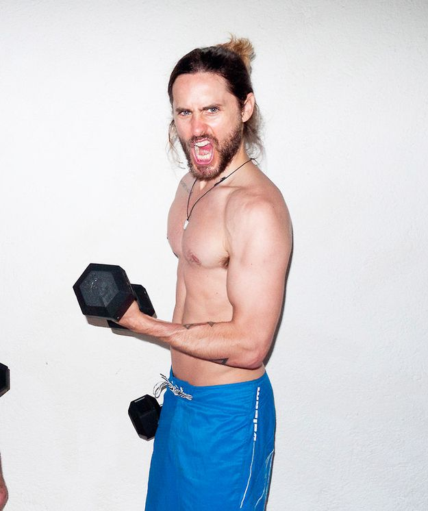 And also still hot when he's doing this:   Jared Leto Defies All Aging Logic As The Sexiest 42-Year-Old Man On Earth