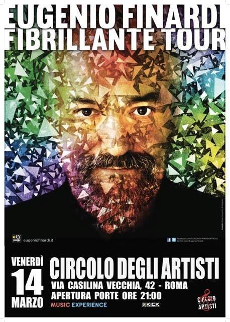 15 anni di attesa per il nuovo disco di Eugenio Finardi: Fibrillante non delude gli estimatori e spettatori che hanno affollato il Circolo degli Artisti..