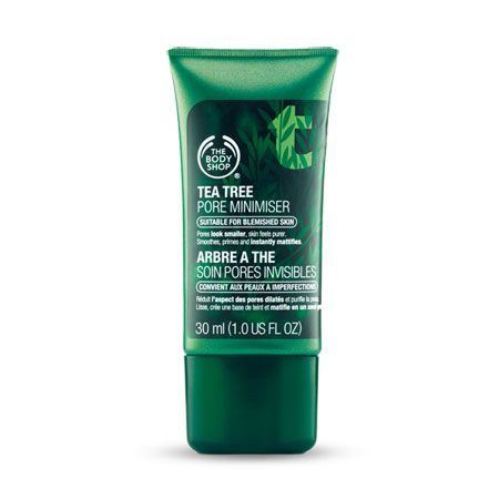 Tea Tree Pore Minimizer from The Body Shop. This is the best. Thing. Ever.