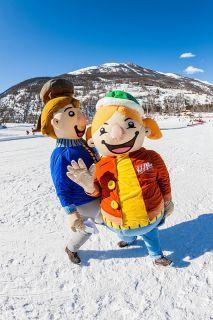 Boule de Neige et Ribouldingue, les mascottes du Val d'Allos Boule de Neige et Ribouldingue, les mascottes du Val d'Allos