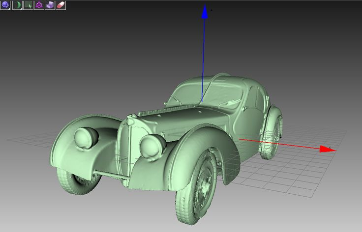 skan 3D replika Bugatti 57 SC