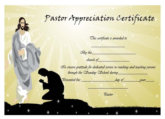 21 best Pastor Appreciation Certificate Templates images on - certificate sample