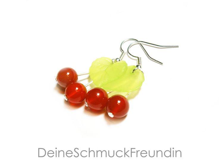 Ohrringe+Kirschen+von+DeineSchmuckFreundin+-+Schmuck+und+Accessoires+auf+DaWanda.com