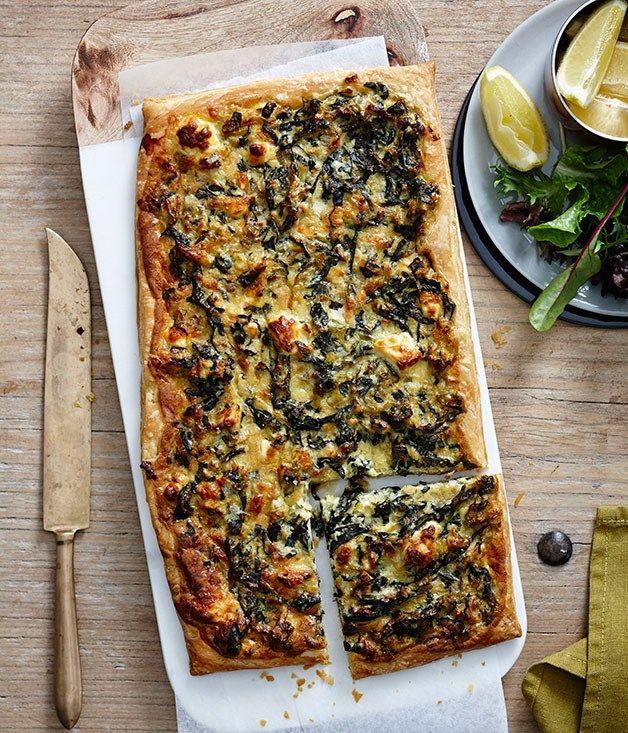 Leek, Swiss chard and feta tart recipe :: Gourmet Traveller