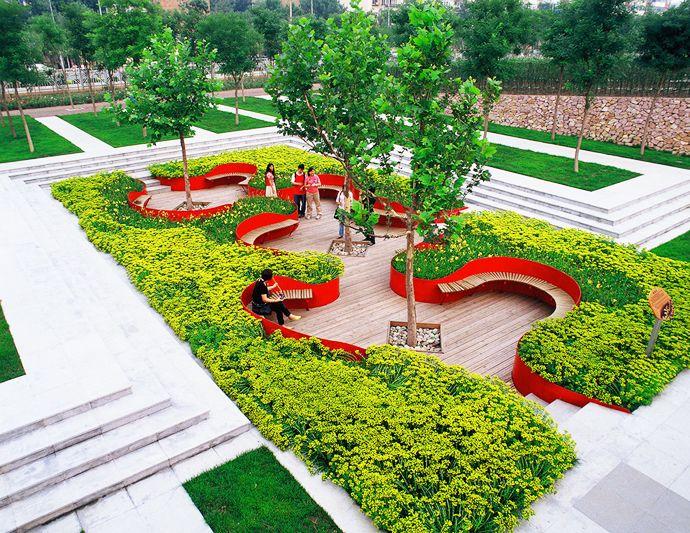 Sunken Seating in the Garden | http://www.designrulz.com/design/2013/11/sunken-seating-in-the-garden/