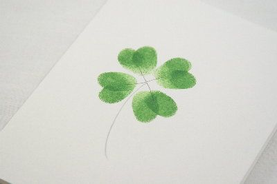 Thumbprint Shamrocks #St. Patrick's Day: Crafts For Kids, Four Leaf Clovers, St. Patty, Thumb Prints, Fingers Prints, St. Patrick'S Day, Kids Crafts, Fingerprints, Cards