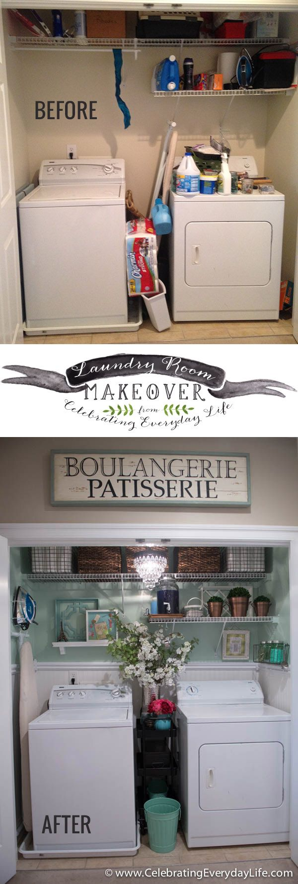 Before & After, My Laundry Room Makeover | Celebrating everyday life with Jennifer Carroll