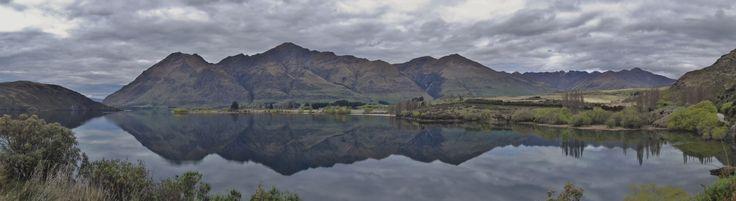 Reflections on Luke. Glendhu Bay, Wanaka, New Zealand - by Jon Reid