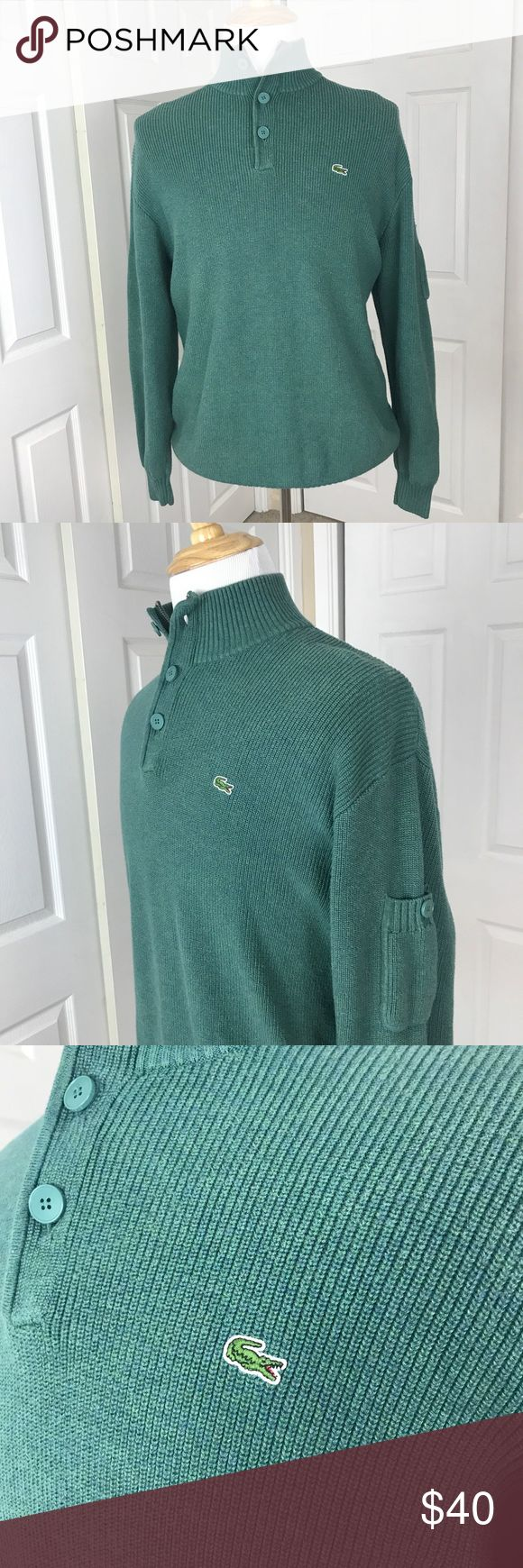 Mens heavyweight Lacoste 1/2 jumper sweater XL 7 Excellent condition! Please see the photos I have attached.   If you need measurements feel free to ask!  I am open to reasonable offers and I always ship out the item within 1 business day! Lacoste Sweaters Zip Up