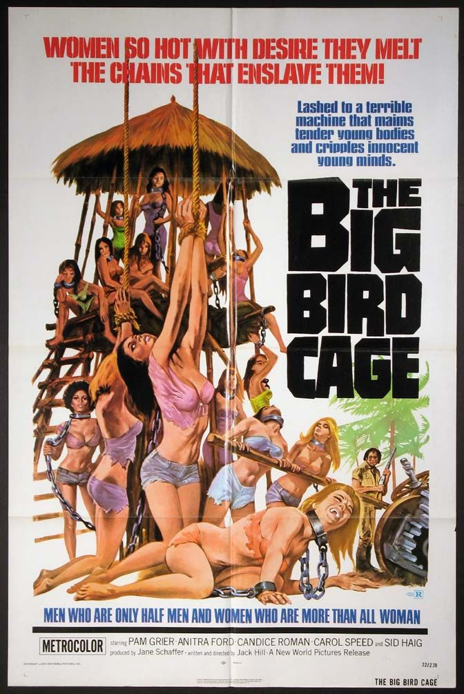 BIG BIRD CAGE, THE Movie Poster (1972)    EXPLOITATION Movie Posters @ FilmPosters.Com - Vintage Movie Posters and More