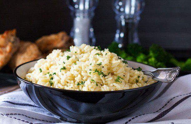 This recipe for Rice Pilaf is simple side dish that is a great alternative to plain white rice. Its mild chicken and garlic flavors make it a versatile and easy side for any supper.
