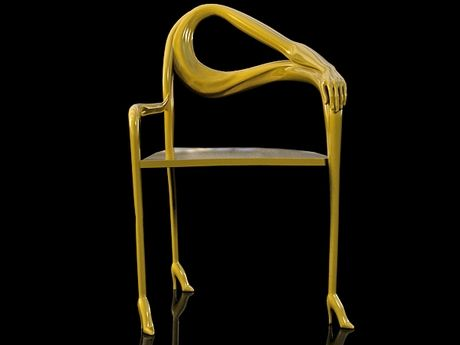 Leda Chair in Gold (1935) by Salvador Dalí, produced by BD Barcelona