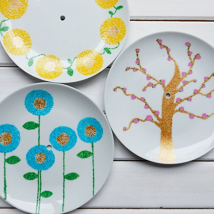 Lucy is talking about Creativity for the soul and making a cake stand with decorated plates over on the blog.
